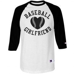 Trendy Baseball Girlfriend Custom Shirt