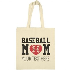 Custom Your Baseball Mom Tote