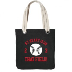My Heart Is On That Field Baseball Mom