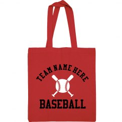 Custom Red Glitter Text Baseball Mom