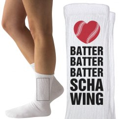 Funny Kinky Baseball Girlfriend Socks With Heart