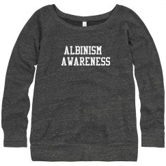 Albinism Awareness- Gray Loose Fit Sweater