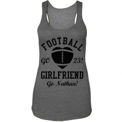 Trendy Football Girlfriend Shirt With Custom Name