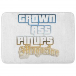 Grown Ass Pinups Magazine Foam Bath Mat