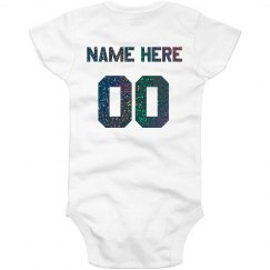 Personalized Glitter Back Onesie