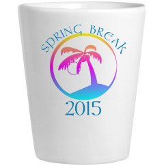 Spring Break Shot Glass