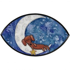 Dachshund on the Moon