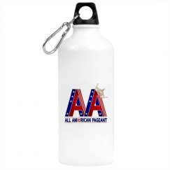 All American Pageants Water Bottle