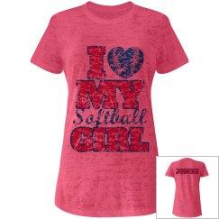 Pink Softball Girl