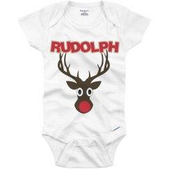 Rudolph Christmas Onesie