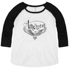 America | Women's Curvy Raglan Tee