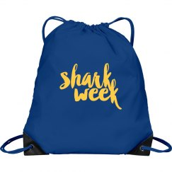 Shark Week Drawstring Bag