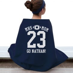 Cozy Football Mom Blanket With Custom Name Number