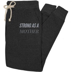 Strong as a mother black joggers