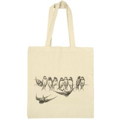Birds on a Wire Tote Bag #2