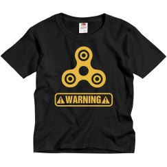 Funny Fidget Spinner Warning