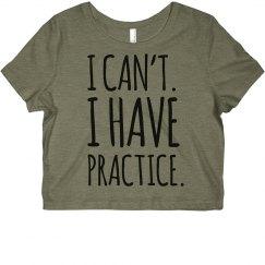 Cheer Practice Crop Top