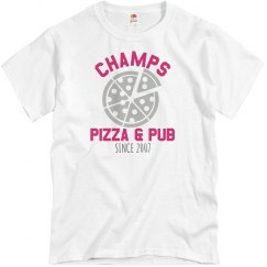 Champs 1 - White & Hot Pink