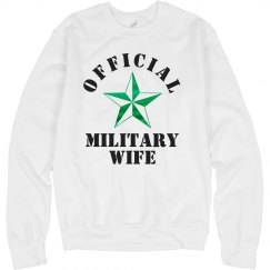Metallic Official Military Wife