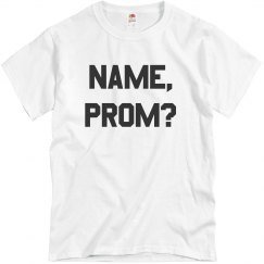 Add A Custom Name Proposal Shirt