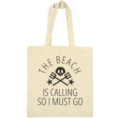 The Beach Is Calling Trendy Beach Bag