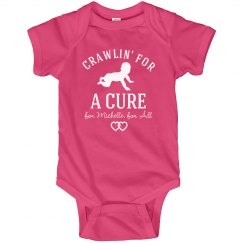 Crawlin' For A Cure Breast Cancer Awareness Baby Onesie