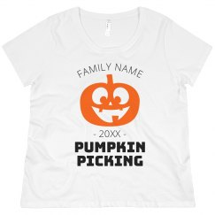 Custom Group Family Pumpkin Picking Tee