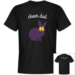 Cheer dad black tee with Name