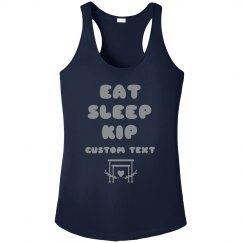 Metallic Eat Sleep Kip Gymnastics