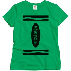 Green Crayon Shirt Costume