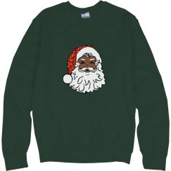sequin black santa claus