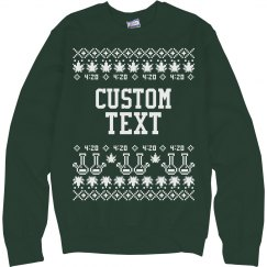 Custom Merry-Juana Christmas Sweater