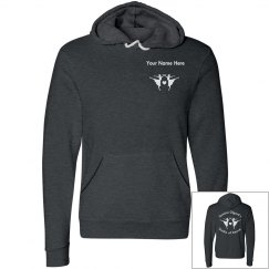 Women's black and grey pullover hoodie
