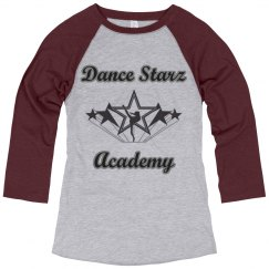 Dance Starz Baseball 3/4 sleeve