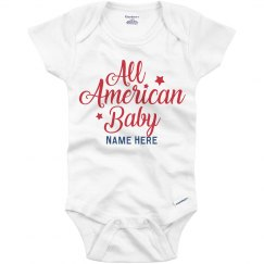 All American Baby Custom Onesie