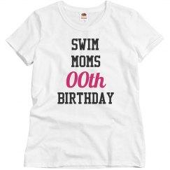 Customize swim moms birthday
