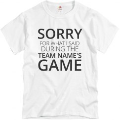 Funny Sports Game Custom