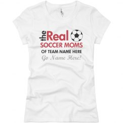 7047a3cd5 Ladies Relaxed Fit V-Neck Sports Tee · Real Soccer Mom Fan Tee