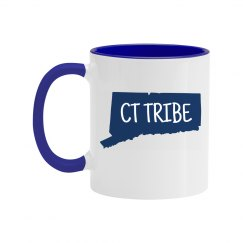 CT Tribe 'runs on coffee' mug
