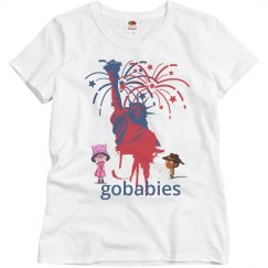 GOBABIES Misses Basic Relaxed Fit Fruit of the Loom Tee