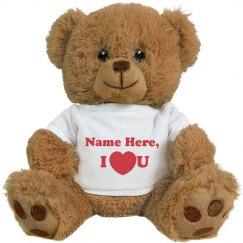 Custom Name I Heart You