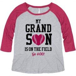 Go #00 Grandma Baseball Tee