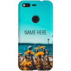 Beachy Floral Custom Name