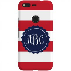 Nautical Stripes Custom Monogram