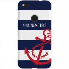 Nautical Anchor With Custom Name
