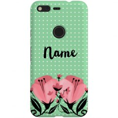 Floral Polkadot Custom Name