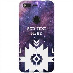 Custom Text Tribal Space Nebula