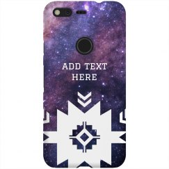 Custom Text Tribal Space Nebula