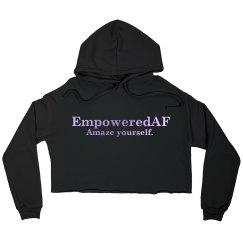 EmpoweredAF cropped hoodie