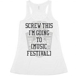 Funny Custom Music Festival Top